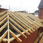 Cut and pitched roof with hips